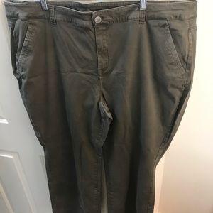 Lane Bryant soft green pants Sz 26